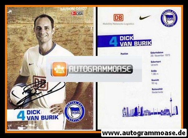 Autogramm Fussball | Hertha BSC Berlin | 2006 | Dick VAN BURIK