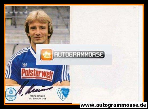 Autogramm Fussball | VfL Bochum | 1984 | Heinz KNÜWE