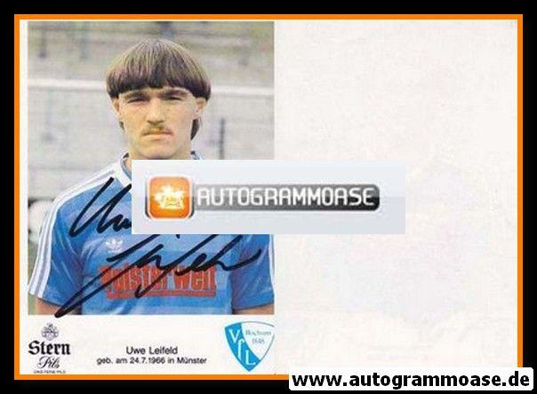 Autogramm Fussball | VfL Bochum | 1985 | Uwe LEIFELD