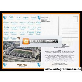 Autogrammkarte Fussball   VfL Bochum   1986   RUHRSTADION (4-seitig)