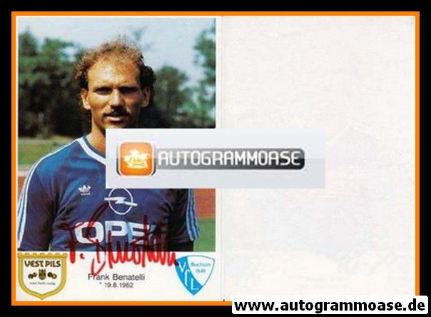 Autogramm Fussball   VfL Bochum   1986   Frank BENATELLI