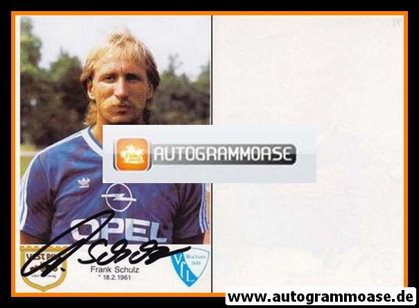 Autogramm Fussball | VfL Bochum | 1986 | Frank SCHULZ