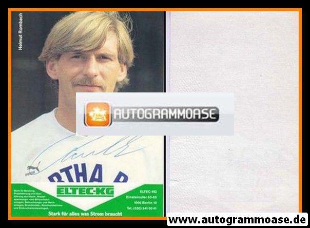 Autogramm Fussball   Hertha BSC Berlin   1989   Helmut ROMBACH