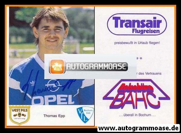 Autogramm Fussball | VfL Bochum | 1987 | Thomas EPP