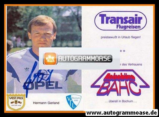 Autogramm Fussball | VfL Bochum | 1987 | Hermann GERLAND