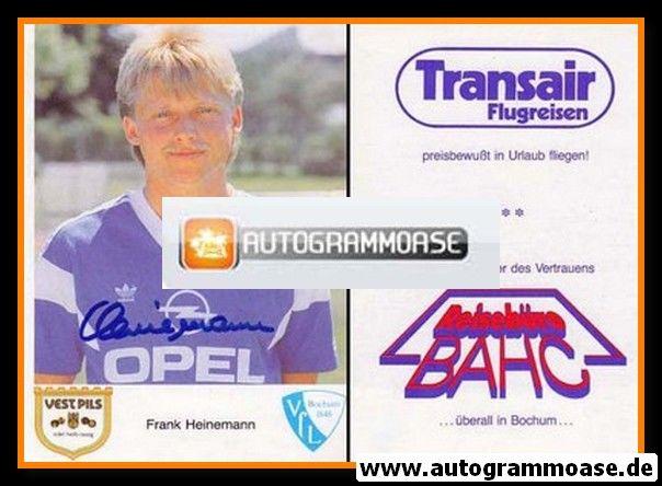 Autogramm Fussball | VfL Bochum | 1987 | Frank HEINEMANN