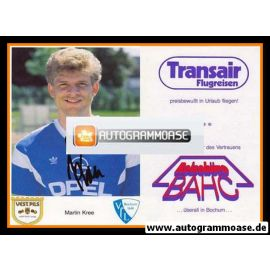 Autogramm Fussball   VfL Bochum   1987   Martin KREE