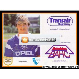 Autogramm Fussball | VfL Bochum | 1987 | Uwe LEIFELD
