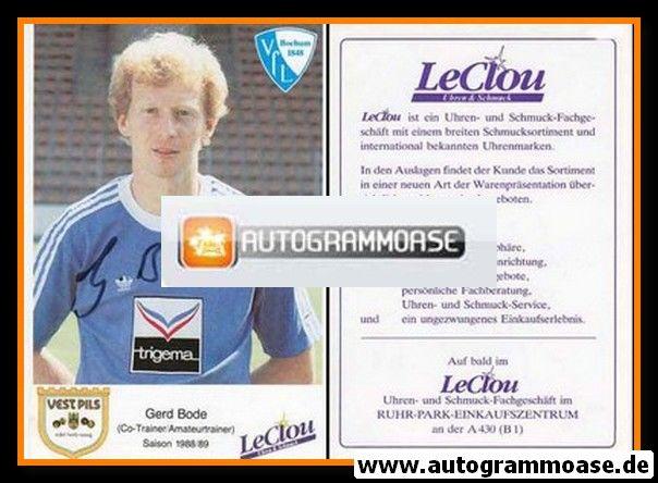Autogramm Fussball   VfL Bochum   1988   Gerd BODE