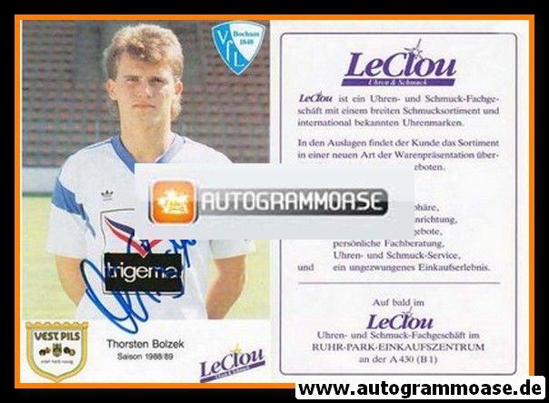 Autogramm Fussball | VfL Bochum | 1988 | Thorsten BOLZEK