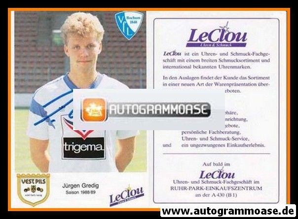 Autogramm Fussball | VfL Bochum | 1988 | Jürgen GREDIG