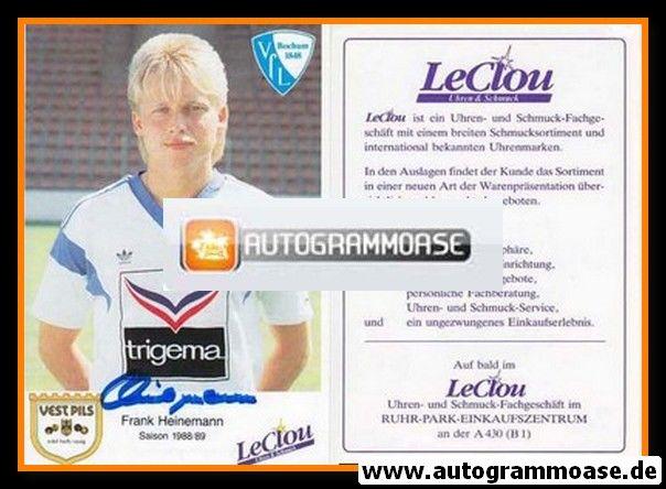 Autogramm Fussball | VfL Bochum | 1988 | Frank HEINEMANN