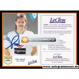 Autogramm Fussball | VfL Bochum | 1988 | Peter JACKISCH