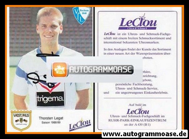 Autogramm Fussball | VfL Bochum | 1988 | Thorsten LEGAT
