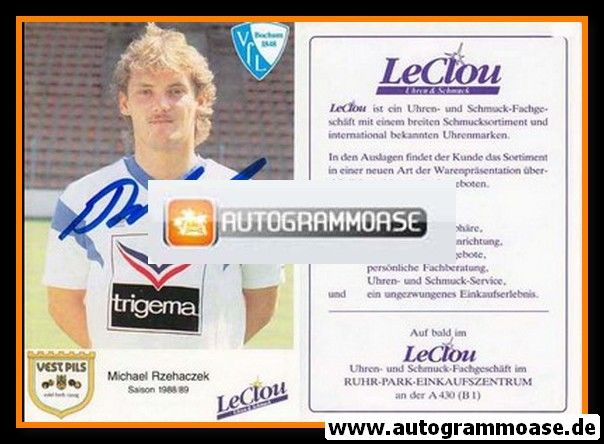 Autogramm Fussball | VfL Bochum | 1988 | Michael RZEHACZEK