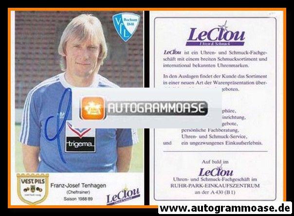 Autogramm Fussball   VfL Bochum   1988   Franz-Josef TENHAGEN