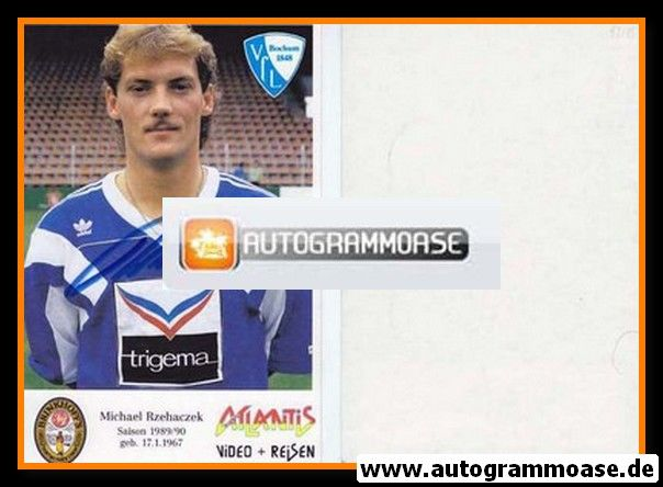 Autogramm Fussball | VfL Bochum | 1989 | Michael RZEHACZEK