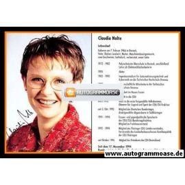 Autogramm Politik Cdu Claudia Nolte 1990er Lebenslauf 1