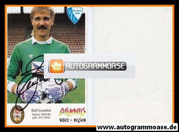 Autogramm Fussball | VfL Bochum | 1989 | Ralf ZUMDICK