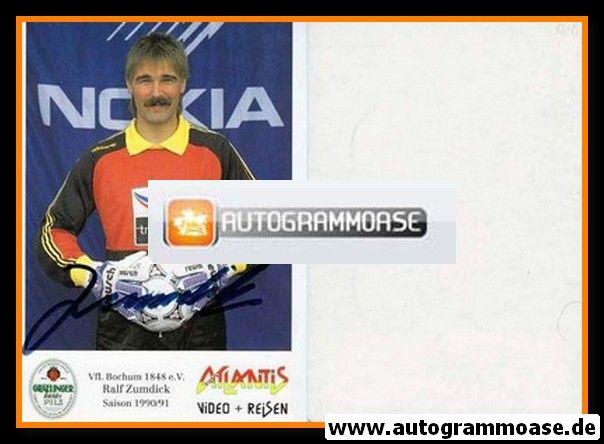 Autogramm Fussball | VfL Bochum | 1990 | Ralf ZUMDICK
