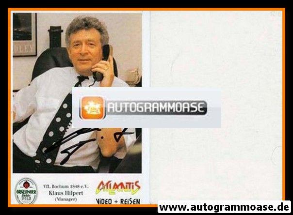 Autogramm Fussball   VfL Bochum   1991 Atlantis   Klaus HILPERT