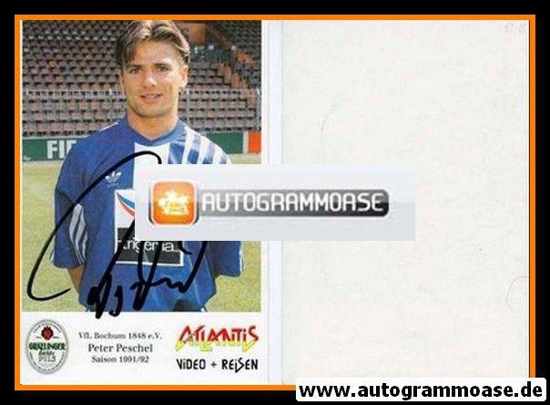 Autogramm Fussball | VfL Bochum | 1991 Atlantis | Peter PESCHEL