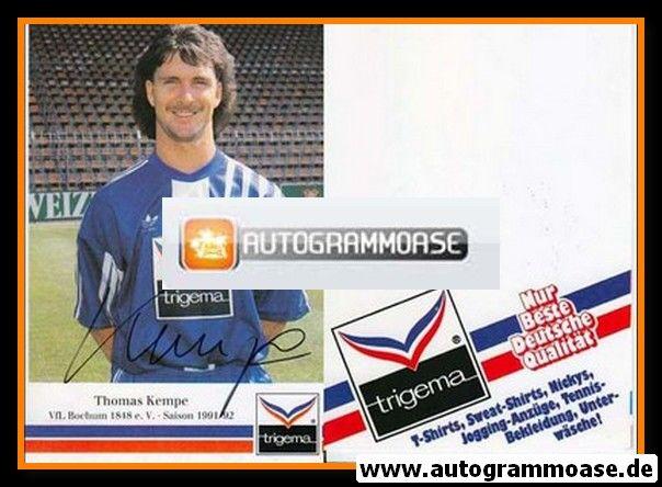 Autogramm Fussball   VfL Bochum   1991 Trigema   Thomas KEMPE