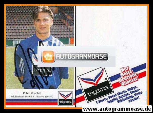 Autogramm Fussball | VfL Bochum | 1991 Trigema | Peter PESCHEL