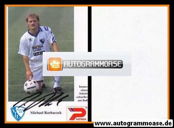 Autogramm Fussball | VfL Bochum | 1992 | Michael RZEHACZEK