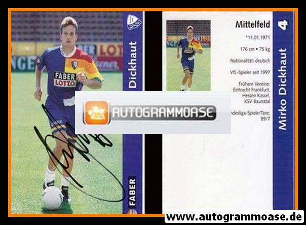 Autogramm Fussball | VfL Bochum | 1997 | Mirko DICKHAUT