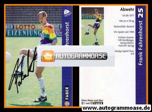 Autogramm Fussball | VfL Bochum | 1997 | Frank FAHRENHORST