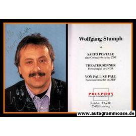 Autogramm TV | ZDF | Wolfgang STUMPH | 1990er (Portrait Color) Polyphon