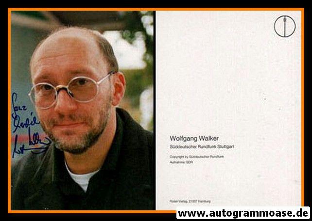 Autogramm TV   SR   Wolfgang WALKER   1980er (Portrait Color) Rüdel