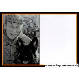 Autogramm Schauspieler   Carl RADDATZ   1980er Foto (Portrait SW) mit Hund