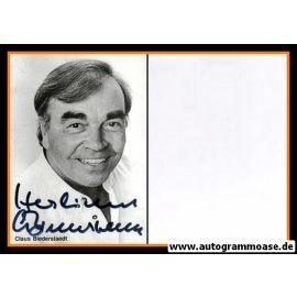 Autogramm Schauspieler | Claus BIEDERSTAEDT | 1980er (Portrait SW)