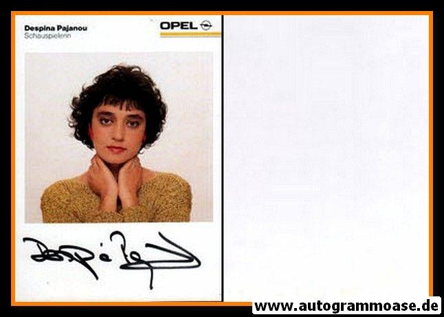 Autogramm Schauspieler | Despina PAJANOU | 1990er (Portrait Color) Opel