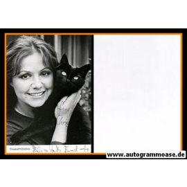 Autogramm Schauspieler | Elisabeth ENDRISS | 1980er (Portrait SW) mit Katze