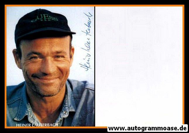 Autogramm Schauspieler   Heiner LAUTERBACH   1980er (Portrait Color)