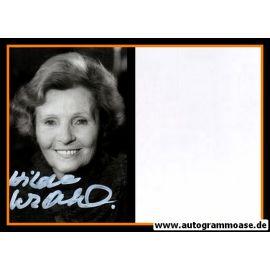 Autogramm Schauspieler   Hilde KRAHL   1980er Foto (Portrait SW)