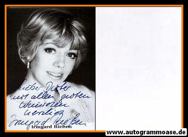 Autogramm Schauspieler | Irmgard RIESSEN | 1980er (Portrait SW)