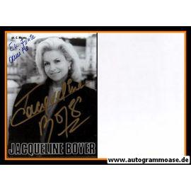 Autogramm Schauspieler   Jacqueline BOYER   1980er (Portrait SW)