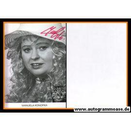 Autogramm Mundart | Manuela KONOPKA | 1980er (Portrait SW)
