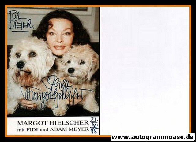 Autogramm Schauspieler | Margot HIELSCHER | 1980er (Portrait Color) mit Hunden