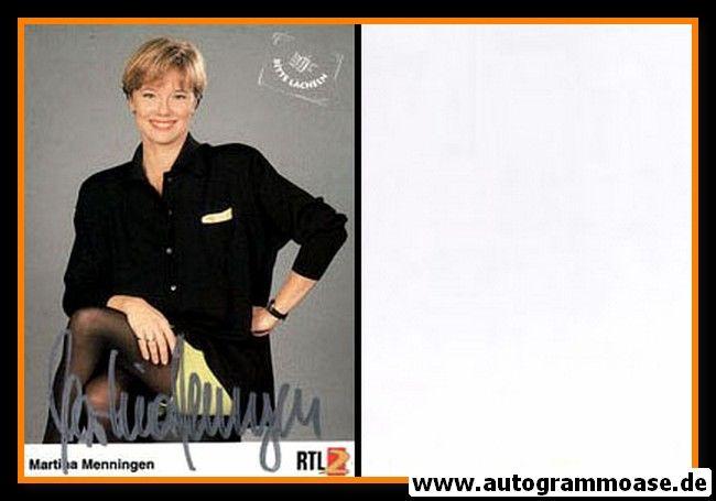 """Autogramm TV   RTL2   Martina MENNINGEN   1990er """"Bitte Lächeln"""""""
