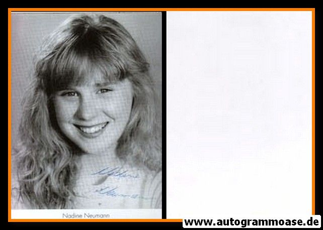 Autogramm Schauspieler | Nadine NEUMANN | 1980er (Portrait SW)