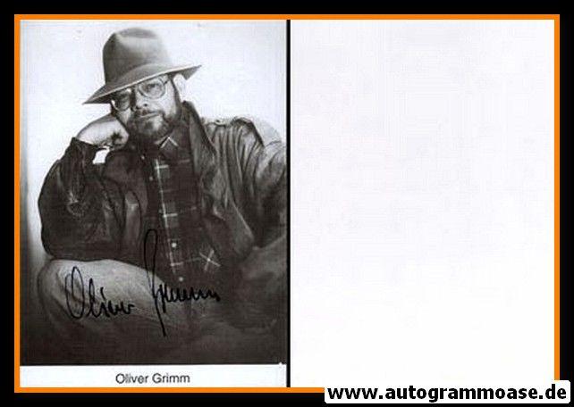 Autogramm Schauspieler   Oliver GRIMM   1980er (Portrait SW) 2