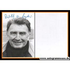 Autogramm Film   Rolf VON SYDOW   1980er Foto (Portrait SW)
