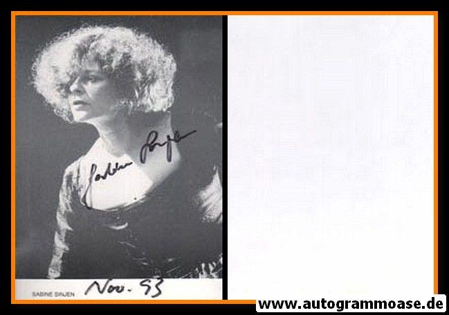 Autogramm Schauspieler | Sabine SINJEN | 1980er (Portrait SW) 2