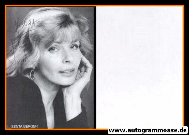 Autogramm Schauspieler | Senta BERGER | 1980er (Portrait SW)