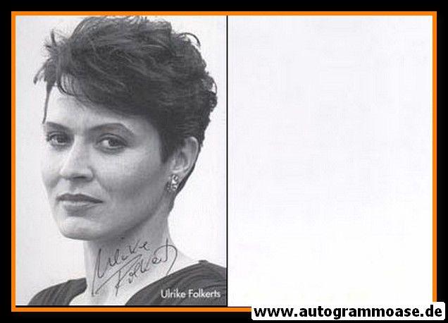 Autogramm Schauspieler | Ulrike FOLKERTS | 1980er (Portrait SW)